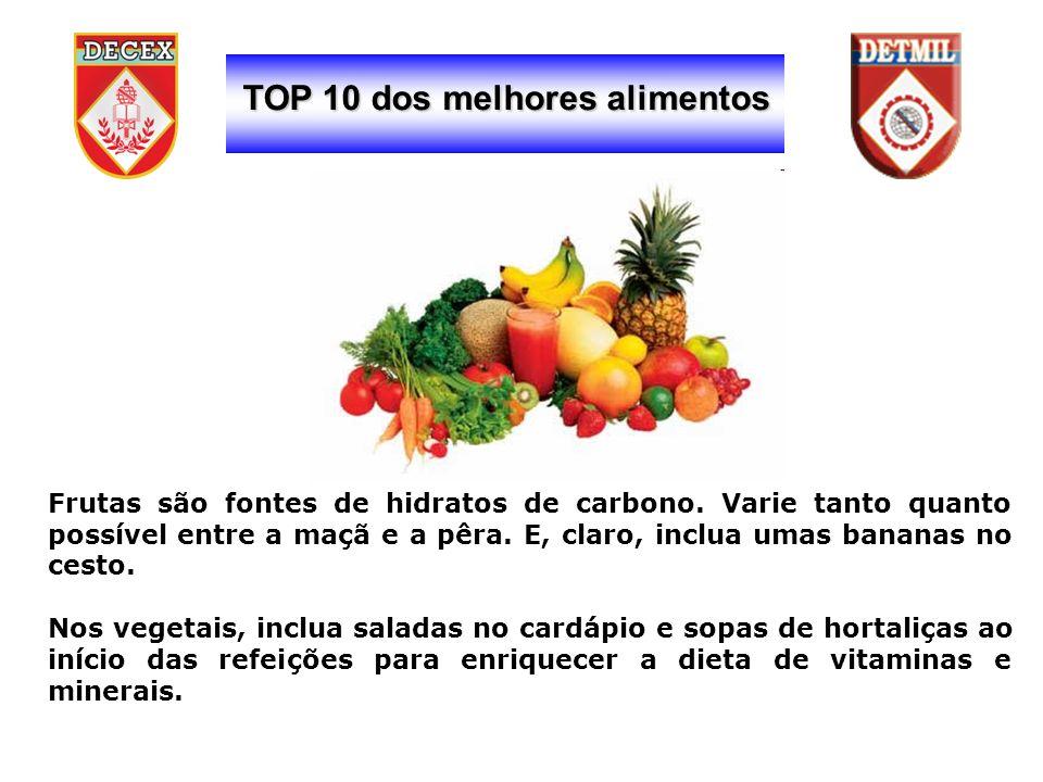 TOP 10 dos melhores alimentos Frutas são fontes de hidratos de carbono.