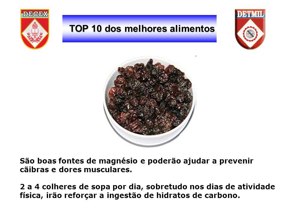 TOP 10 dos melhores alimentos São boas fontes de magnésio e poderão ajudar a prevenir cãibras e dores musculares.
