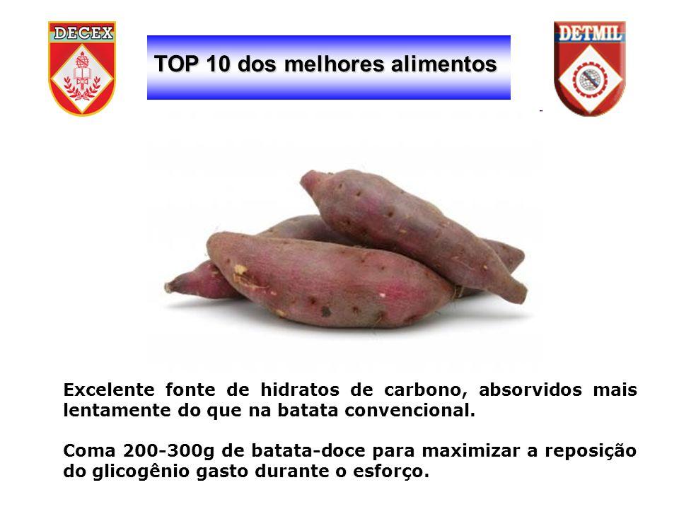 TOP 10 dos melhores alimentos Excelente fonte de hidratos de carbono, absorvidos mais lentamente do que na batata convencional.