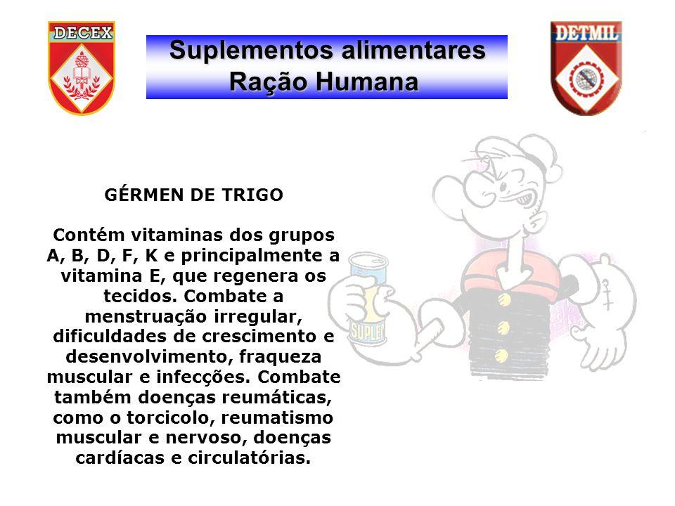 GÉRMEN DE TRIGO Contém vitaminas dos grupos A, B, D, F, K e principalmente a vitamina E, que regenera os tecidos.
