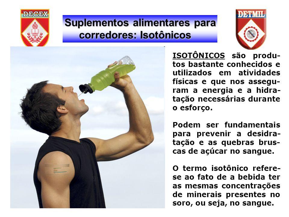 ISOTÔNICOS são produ- tos bastante conhecidos e utilizados em atividades físicas e que nos assegu- ram a energia e a hidra- tação necessárias durante o esforço.