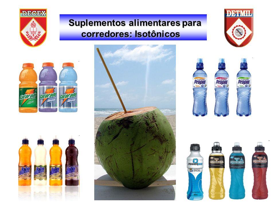 Suplementos alimentares para corredores: Isotônicos corredores: Isotônicos