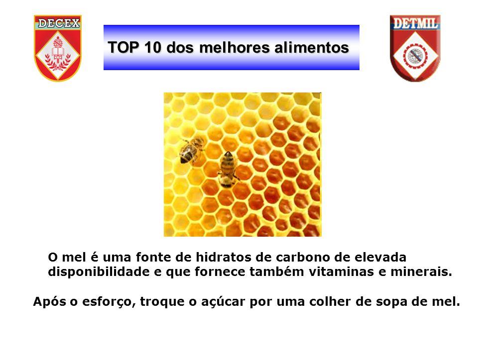 TOP 10 dos melhores alimentos O mel é uma fonte de hidratos de carbono de elevada disponibilidade e que fornece também vitaminas e minerais.