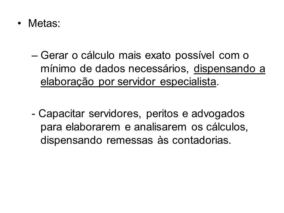 Ações Estabelecidas PeríodoAção 01.2002 a 03.2008 Elaboração dos sistemas de cálculo simplificados, como solução interna local.