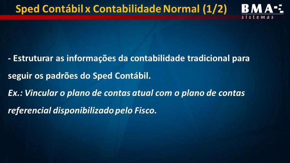 - Estruturar as informações da contabilidade tradicional para seguir os padrões do Sped Contábil.