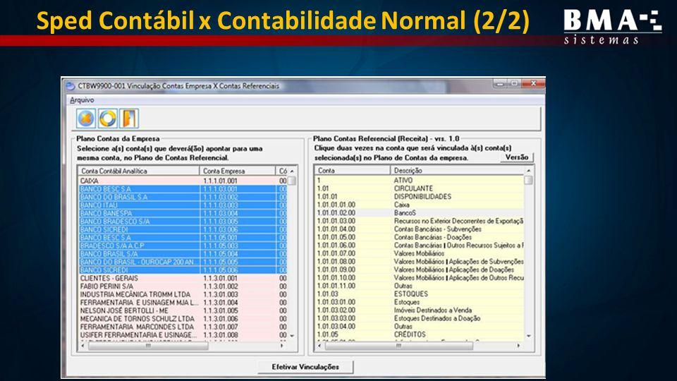 Sped Contábil x Contabilidade Normal (2/2)