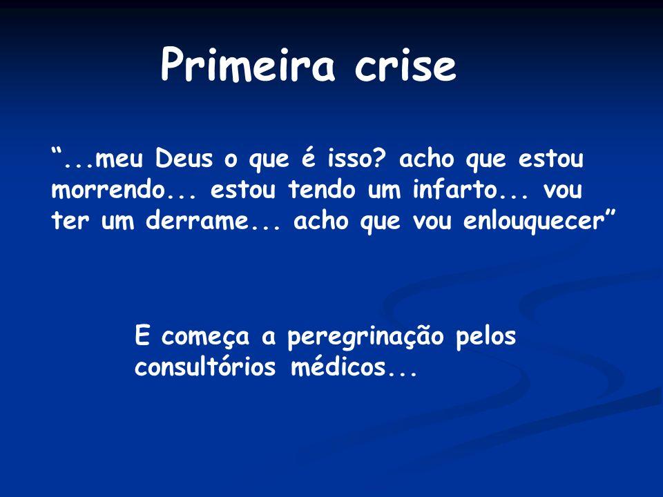 Primeira crise...meu Deus o que é isso.acho que estou morrendo...