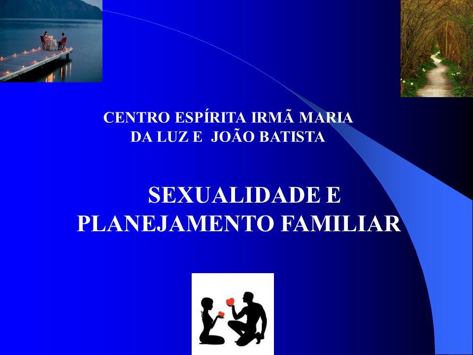 CENTRO ESPÍRITA IRMÃ MARIA DA LUZ E JOÃO BATISTA SEXUALIDADE E PLANEJAMENTO FAMILIAR