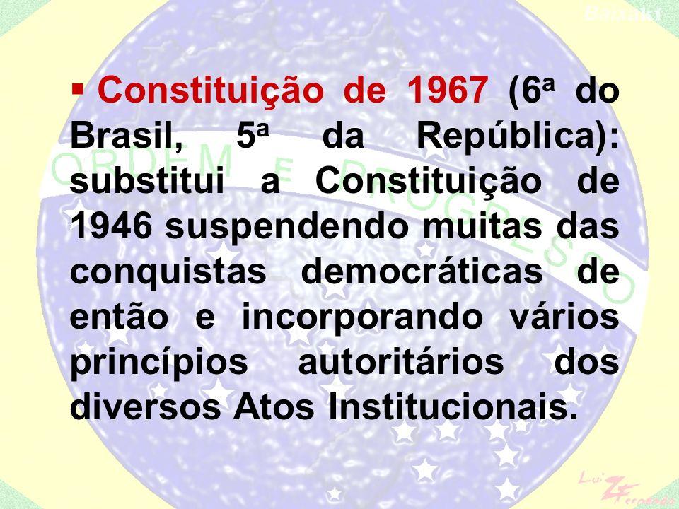 AI-3 (fevereiro de 1966): - estendia as eleições indiretas para os estados e também para os municípios considerados de segurança nacional, incluindo-se as capitais dos estados; AI-4 (1967): - Reabre o Congresso fechado em outubro para aprovar a nova Constituição.