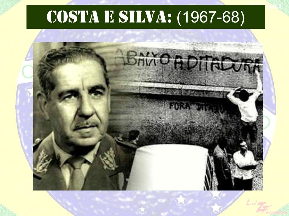Constituição de 1967 (6 a do Brasil, 5 a da República): substitui a Constituição de 1946 suspendendo muitas das conquistas democráticas de então e incorporando vários princípios autoritários dos diversos Atos Institucionais.