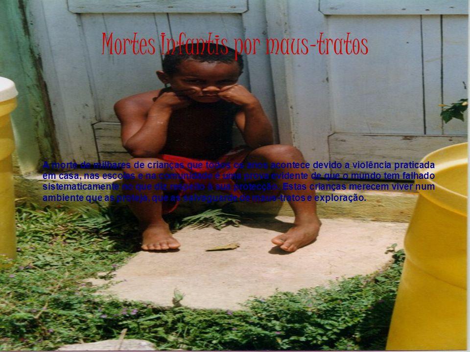 Mortes Infantis por maus-tratos A morte de milhares de crianças que todos os anos acontece devido a violência praticada em casa, nas escolas e na comu