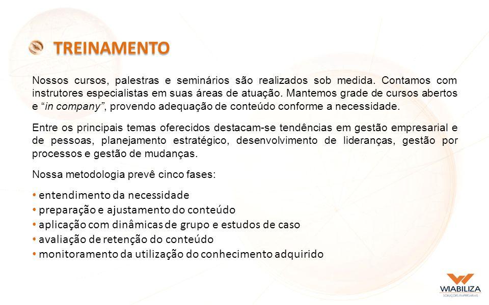 Nossos cursos, palestras e seminários são realizados sob medida.