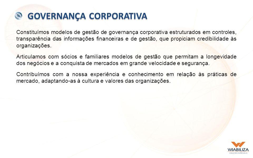 Constituímos modelos de gestão de governança corporativa estruturados em controles, transparência das informações financeiras e de gestão, que propiciam credibilidade às organizações.