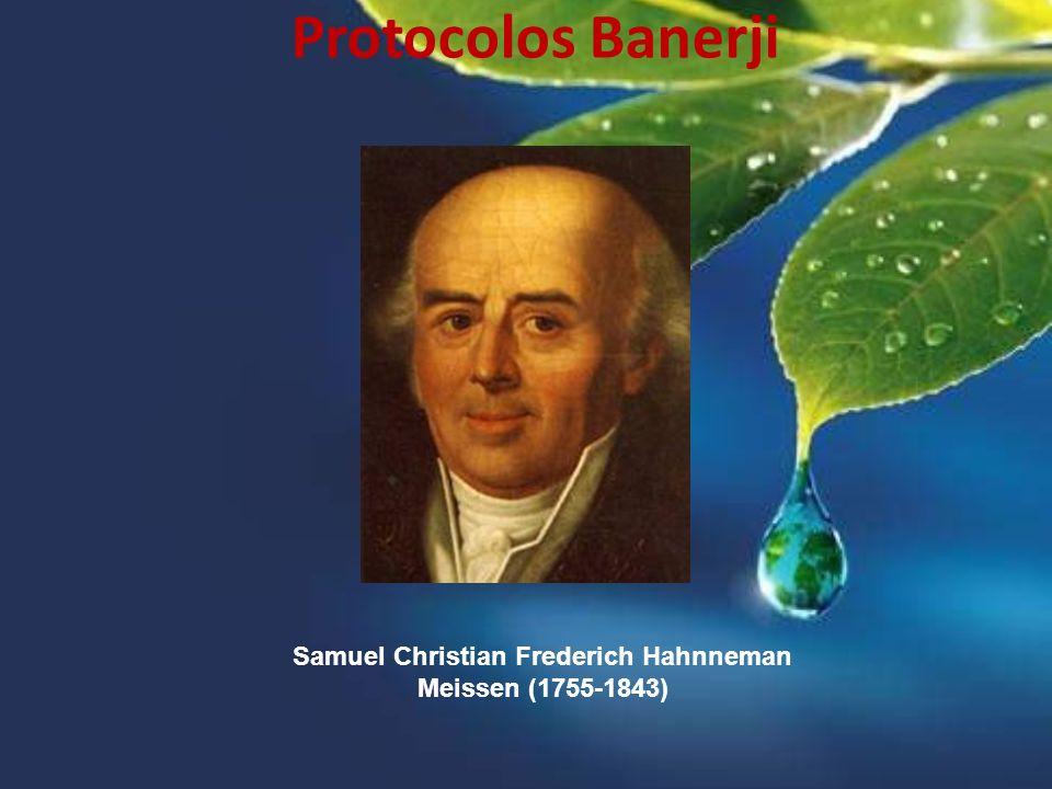Samuel Christian Frederich Hahnneman Meissen (1755-1843) Protocolos Banerji
