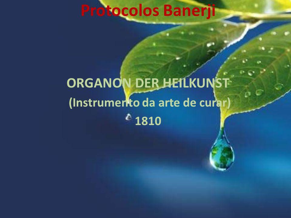 ORGANON DER HEILKUNST (Instrumento da arte de curar) 1810 Protocolos Banerji