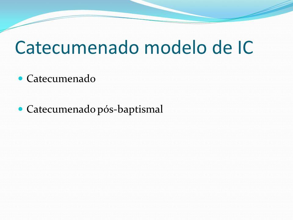Catecumenado modelo de IC Catecumenado Catecumenado pós-baptismal