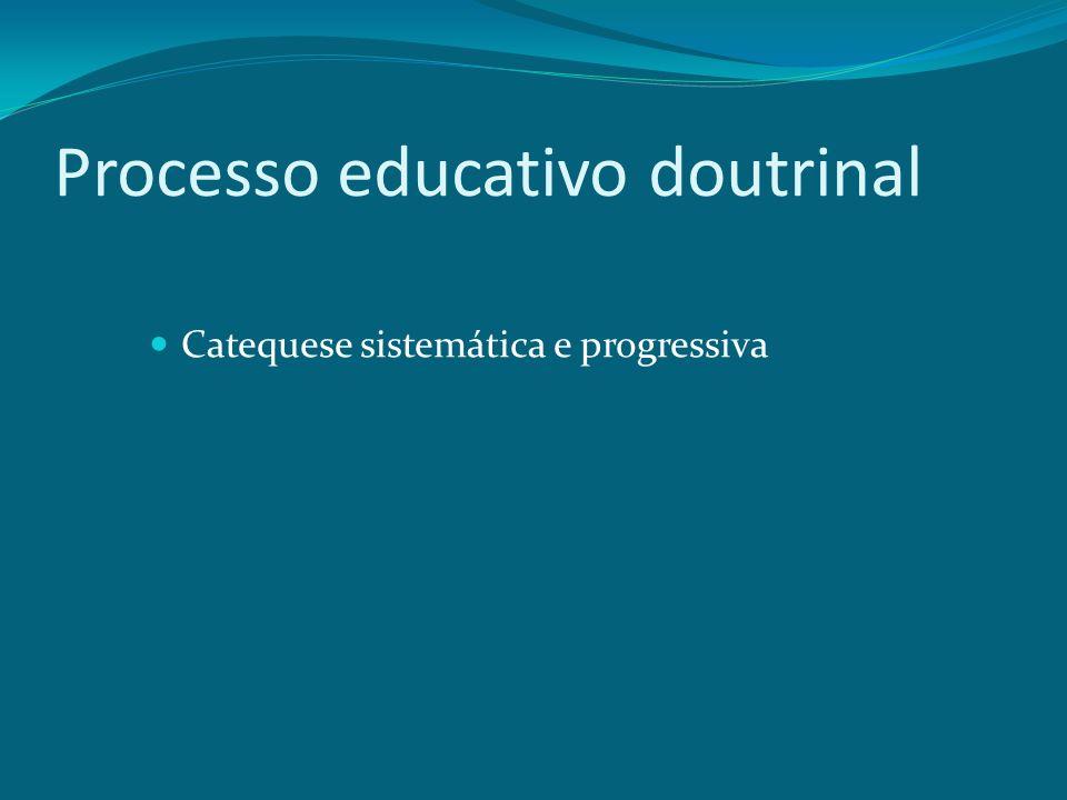 Processo educativo doutrinal Catequese sistemática e progressiva