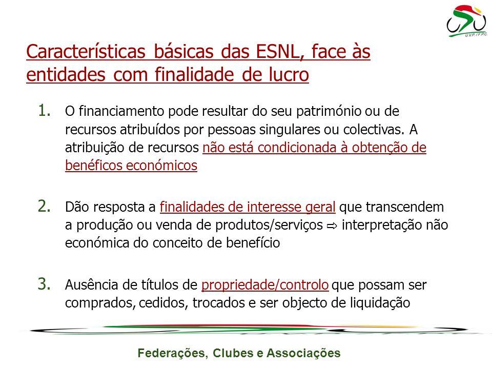 Federações, Clubes e Associações 1.