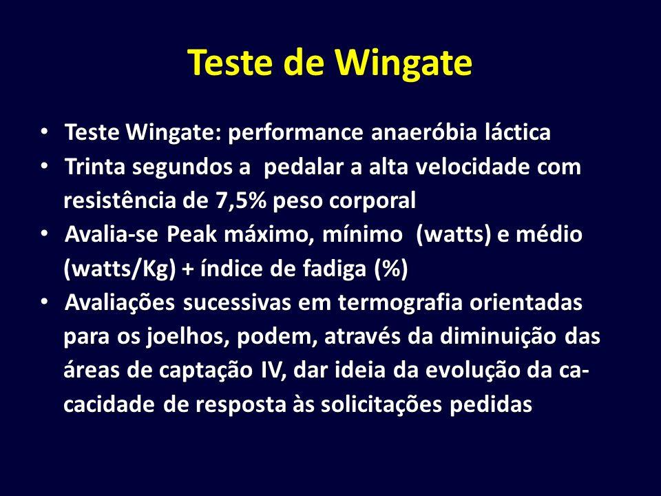 Teste de Wingate Teste Wingate: performance anaeróbia láctica Teste Wingate: performance anaeróbia láctica Trinta segundos a pedalar a alta velocidade