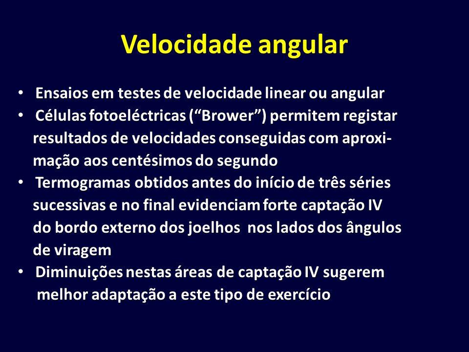 Velocidade angular Ensaios em testes de velocidade linear ou angular Ensaios em testes de velocidade linear ou angular Células fotoeléctricas (Brower)