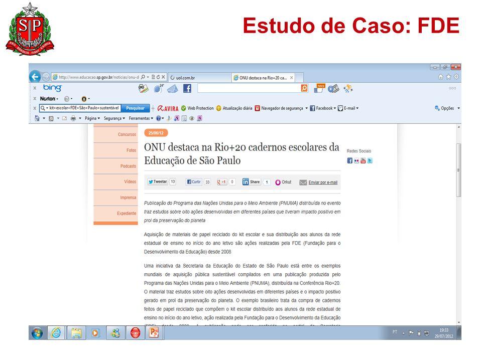 Estudo de Caso: FDE
