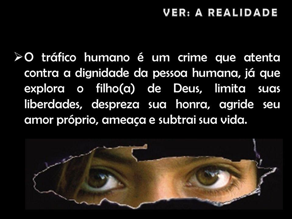 O tráfico humano é um crime que atenta contra a dignidade da pessoa humana, já que explora o filho(a) de Deus, limita suas liberdades, despreza sua ho