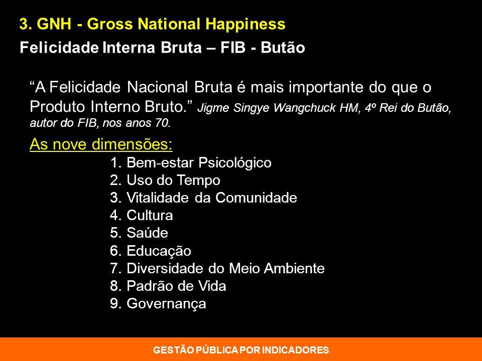 A Felicidade Nacional Bruta é mais importante do que o Produto Interno Bruto. Jigme Singye Wangchuck HM, 4º Rei do Butão, autor do FIB, nos anos 70. A