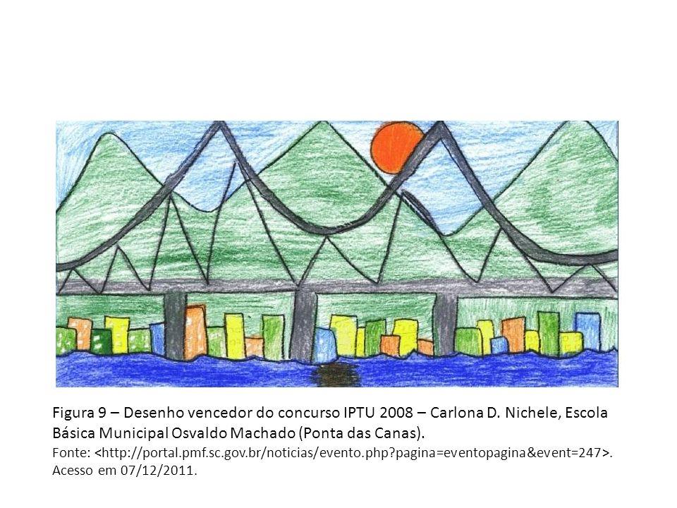 Figura 9 – Desenho vencedor do concurso IPTU 2008 – Carlona D.