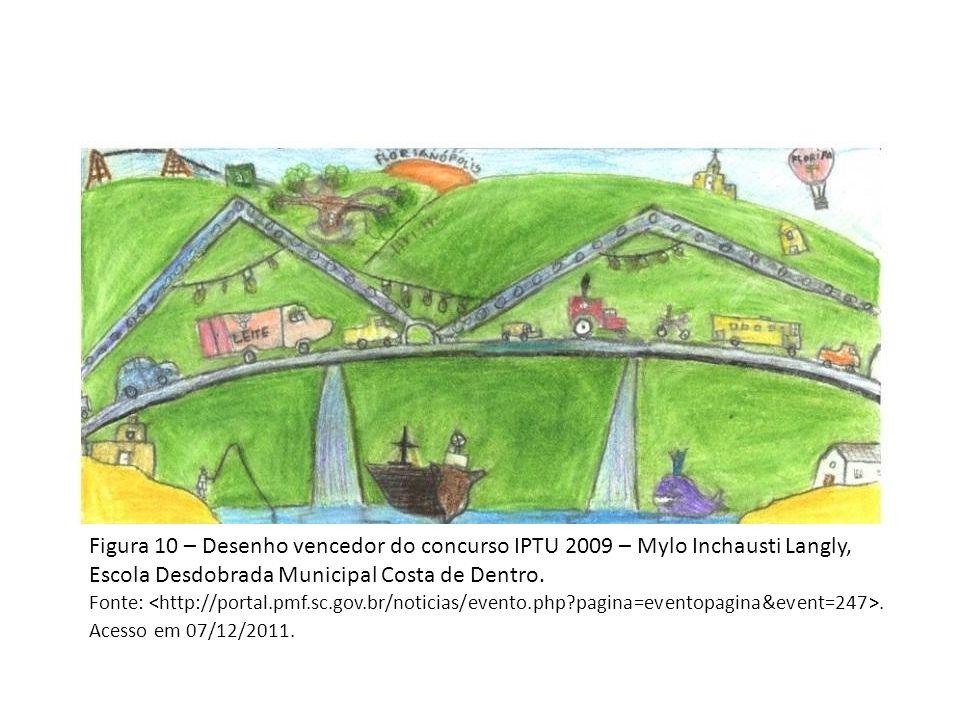 Figura 10 – Desenho vencedor do concurso IPTU 2009 – Mylo Inchausti Langly, Escola Desdobrada Municipal Costa de Dentro.