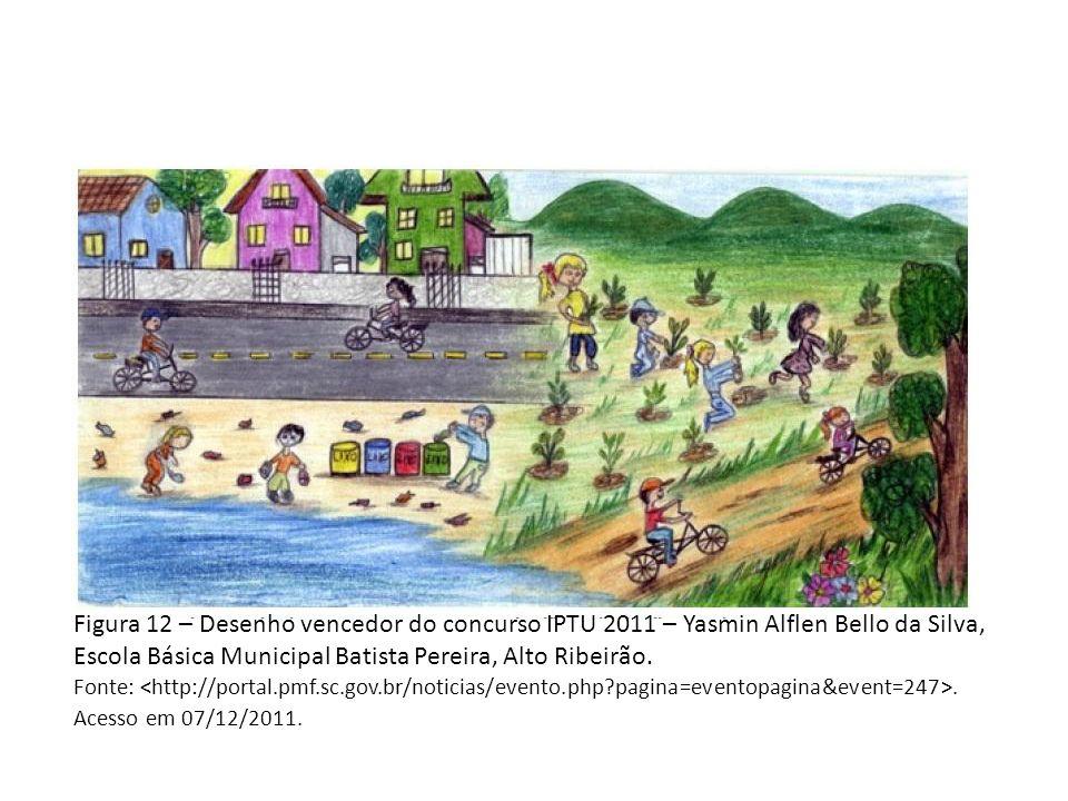 Figura 12 – Desenho vencedor do concurso IPTU 2011 – Yasmin Alflen Bello da Silva, Escola Básica Municipal Batista Pereira, Alto Ribeirão.