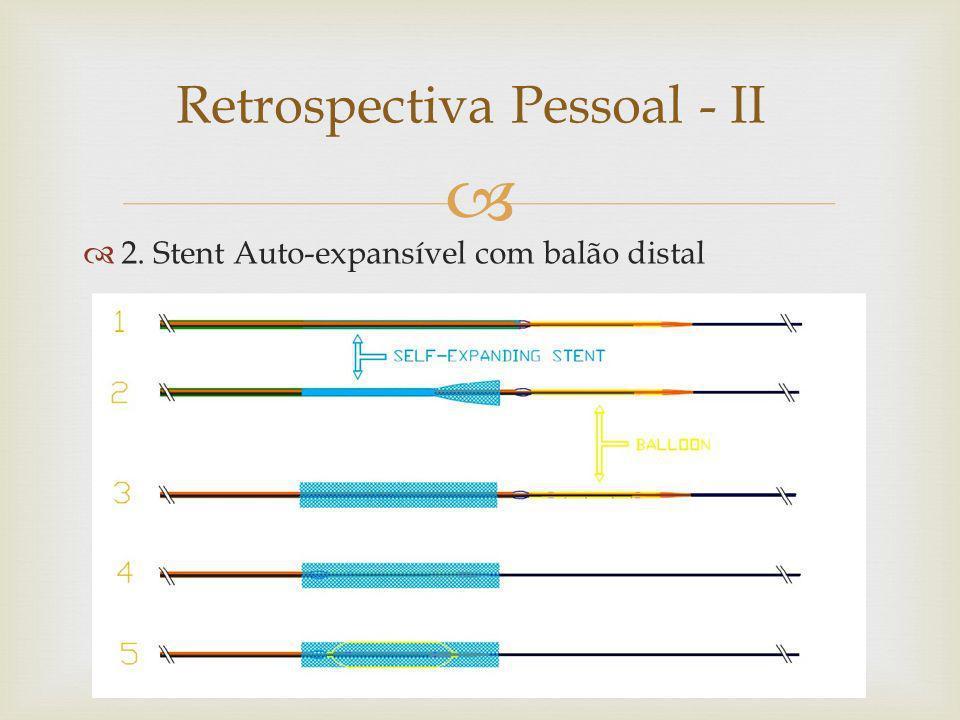 Retrospectiva Pessoal - II 2. Stent Auto-expansível com balão distal