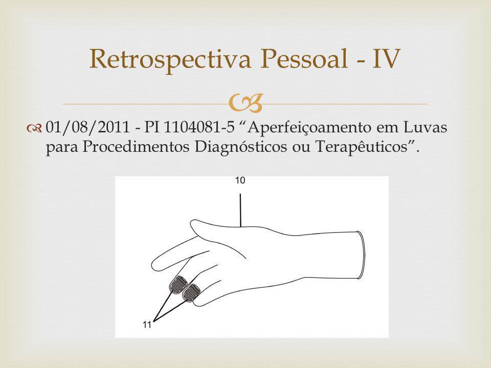 01/08/2011 - PI 1104081-5 Aperfeiçoamento em Luvas para Procedimentos Diagnósticos ou Terapêuticos.