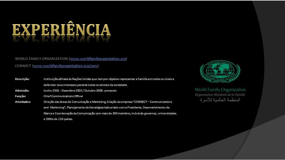 ON INTERNATIONAL (www.oninternational.com)www.oninternational.com Goal 4 Africa (www.goal4africa.org)www.goal4africa.org Descrição:Empresa de Gestão de Talentos Esportivos ligada ao clube de futebol italiano AC Milan com foco na gestão de carreiras e marcas de jogadores de elite.