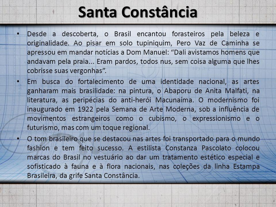 Santa Constância Desde a descoberta, o Brasil encantou forasteiros pela beleza e originalidade. Ao pisar em solo tupiniquim, Pero Vaz de Caminha se ap