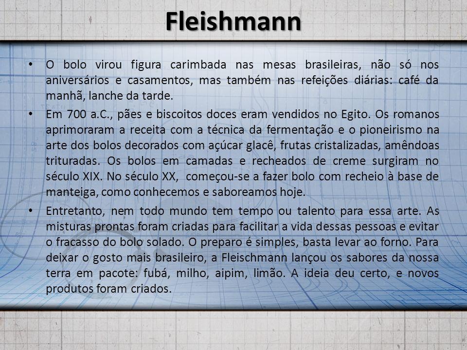 Fleishmann O bolo virou figura carimbada nas mesas brasileiras, não só nos aniversários e casamentos, mas também nas refeições diárias: café da manhã,
