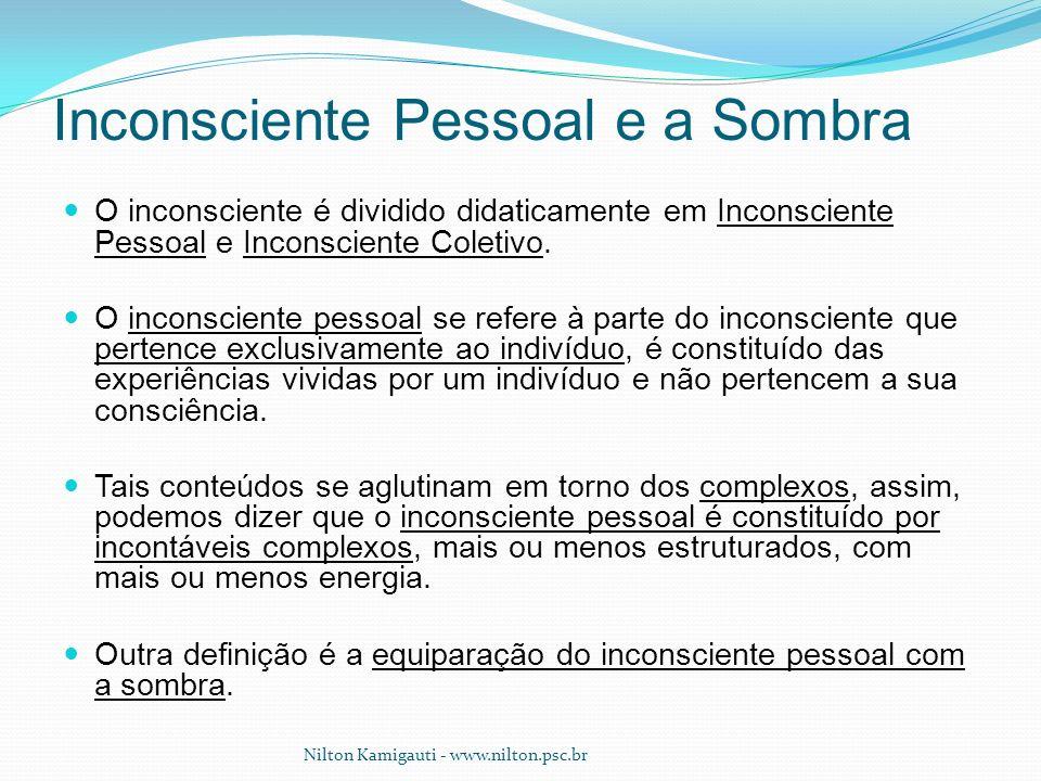 O inconsciente é dividido didaticamente em Inconsciente Pessoal e Inconsciente Coletivo. O inconsciente pessoal se refere à parte do inconsciente que