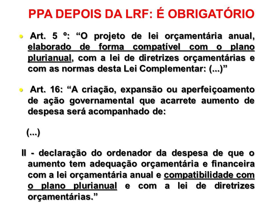 PPA NA CONSTITUIÇÃO FEDERAL DE 1988 PPA NA CONSTITUIÇÃO FEDERAL DE 1988 Art.