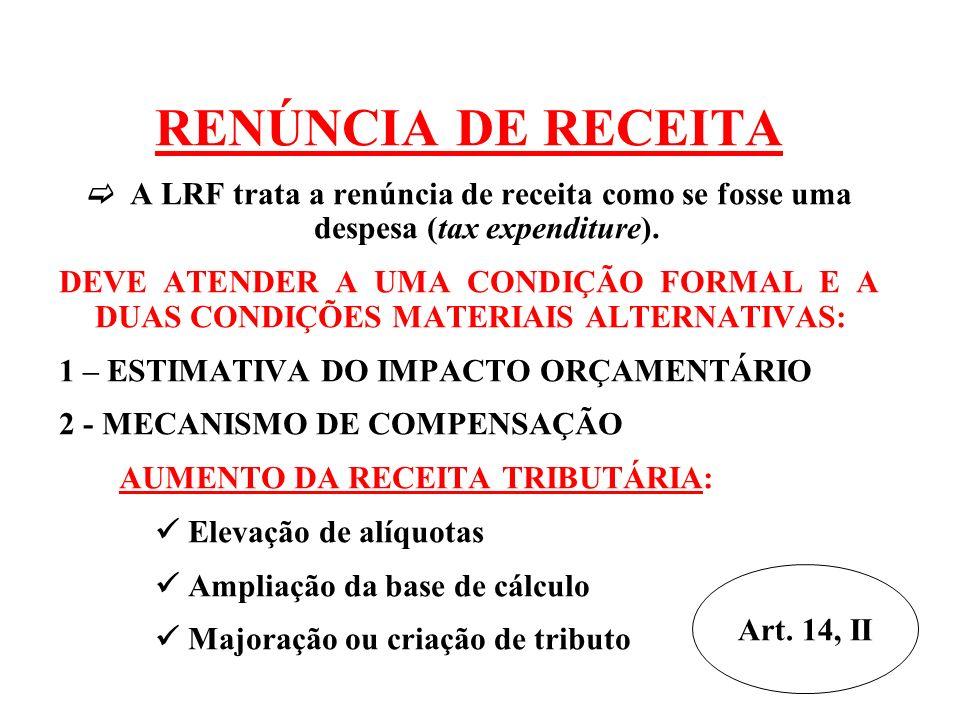 Avaliação dos Passivos Contingentes Riscos que podem afetar o equilíbrio das contas públicas Ex.: decisões judiciais (FGTS) ANEXO DE RISCOS FISCAIS Art.