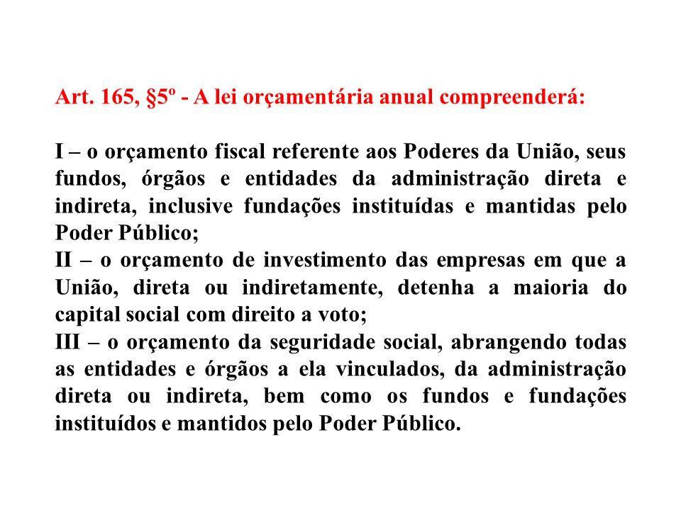LOA Art. 165, §5º/CF