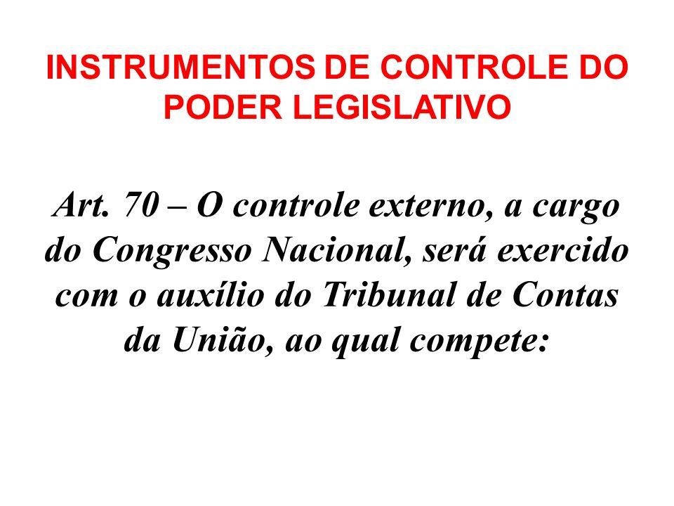 Art. 70 - A fiscalização contábil, financeira, orçamentária, operacional e patrimonial da União e das entidades da administração direta e indireta, qu