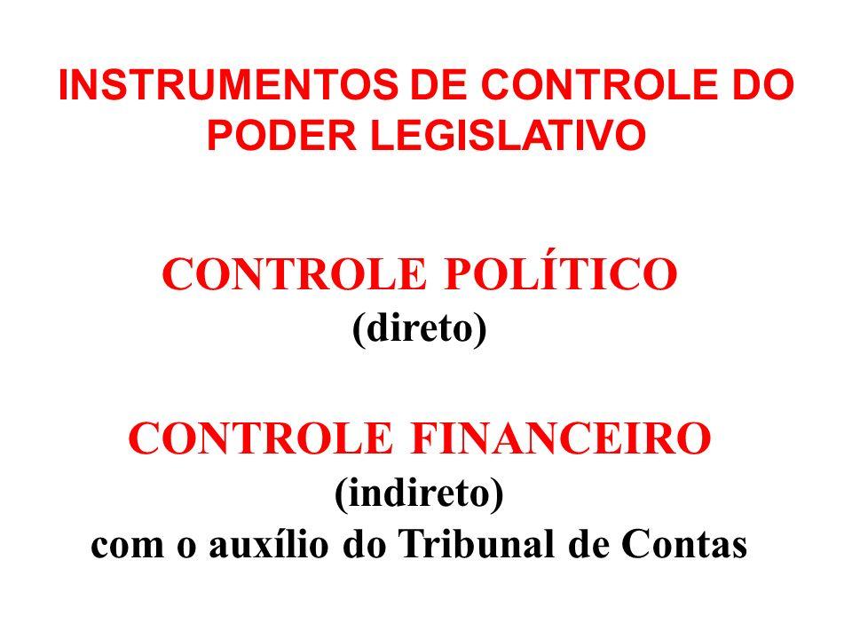 Art. 70 – O controle externo, a cargo do Congresso Nacional, será exercido com o auxílio do Tribunal de Contas da União, ao qual compete: INSTRUMENTOS
