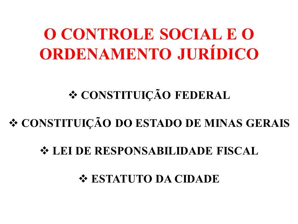 CONTROLE E RESPONSABILIDADE SOCIAL Conceito Base jurídica Estruturas formais e institucionalizadas Um atributo da sociedade civil
