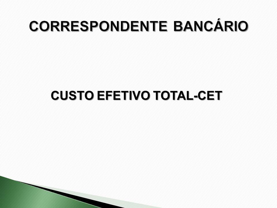 CUSTO EFETIVO TOTAL-CET