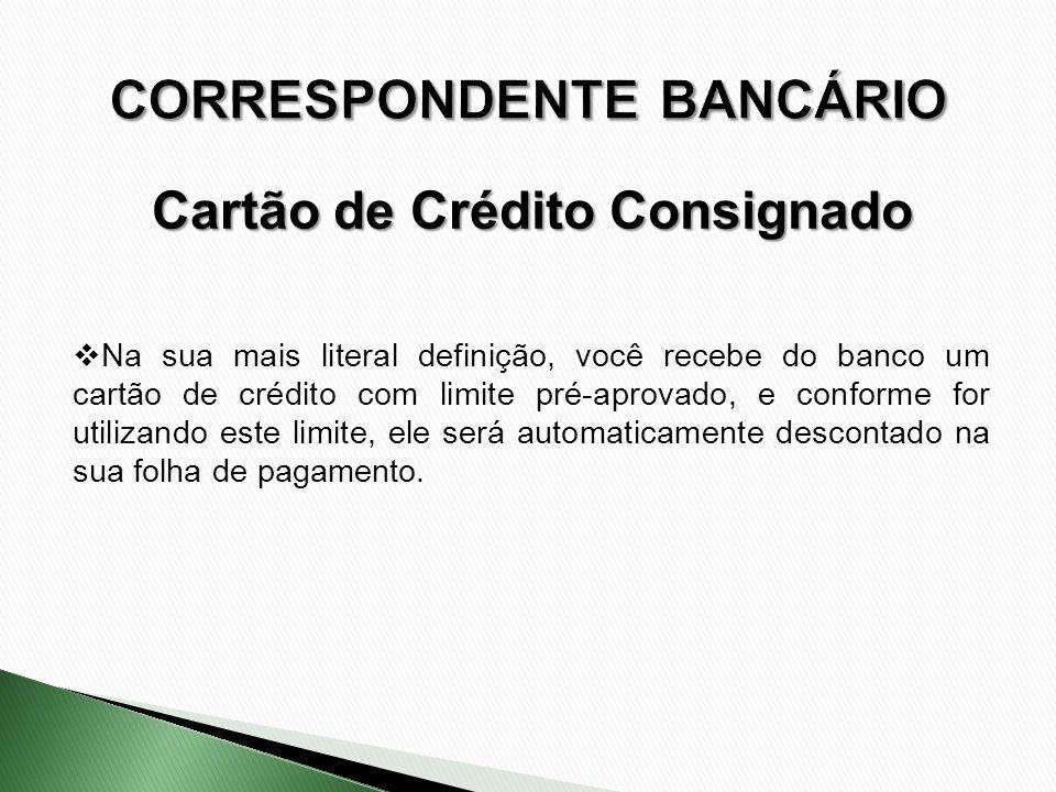Na sua mais literal definição, você recebe do banco um cartão de crédito com limite pré-aprovado, e conforme for utilizando este limite, ele será auto