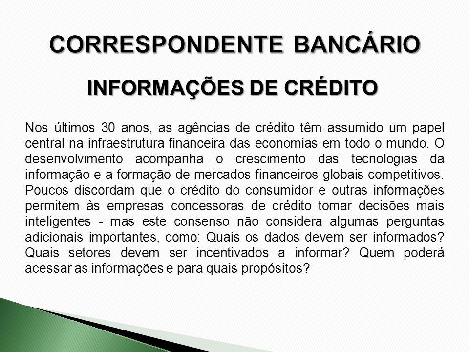 Nos últimos 30 anos, as agências de crédito têm assumido um papel central na infraestrutura financeira das economias em todo o mundo. O desenvolviment