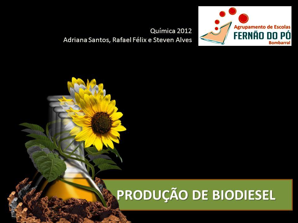Química 2012 Adriana Santos, Rafael Félix e Steven Alves PRODUÇÃO DE BIODIESEL