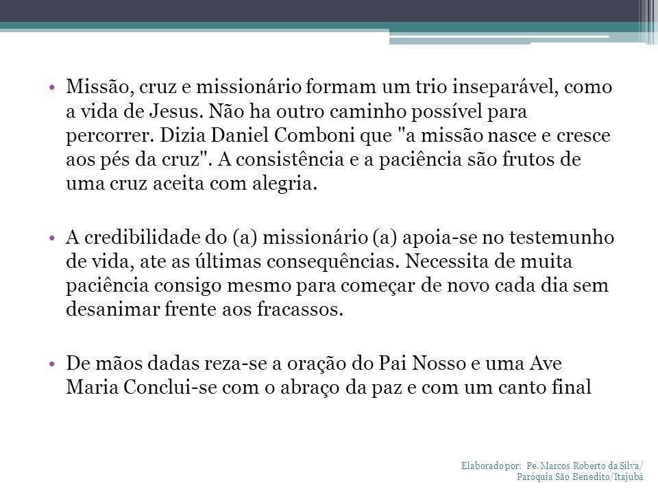 Missão, cruz e missionário formam um trio inseparável, como a vida de Jesus. Não ha outro caminho possível para percorrer. Dizia Daniel Comboni que