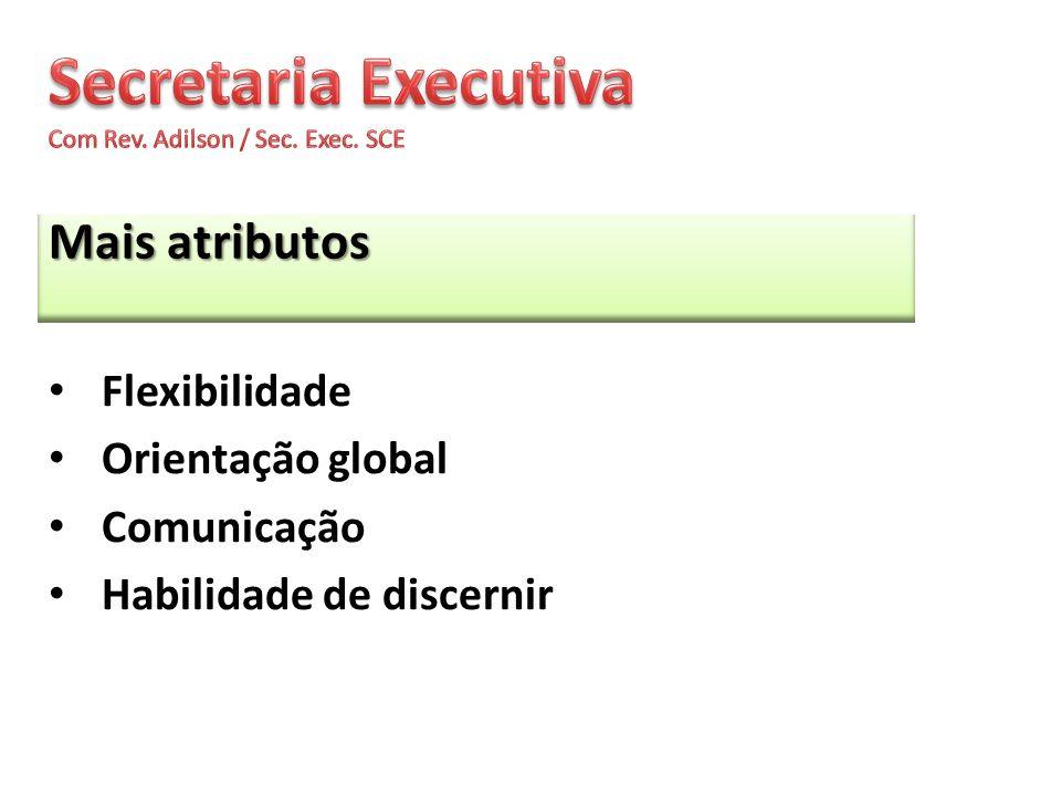 Mais atributos Flexibilidade Orientação global Comunicação Habilidade de discernir