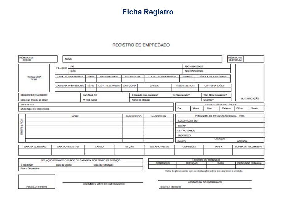 Ficha Registro