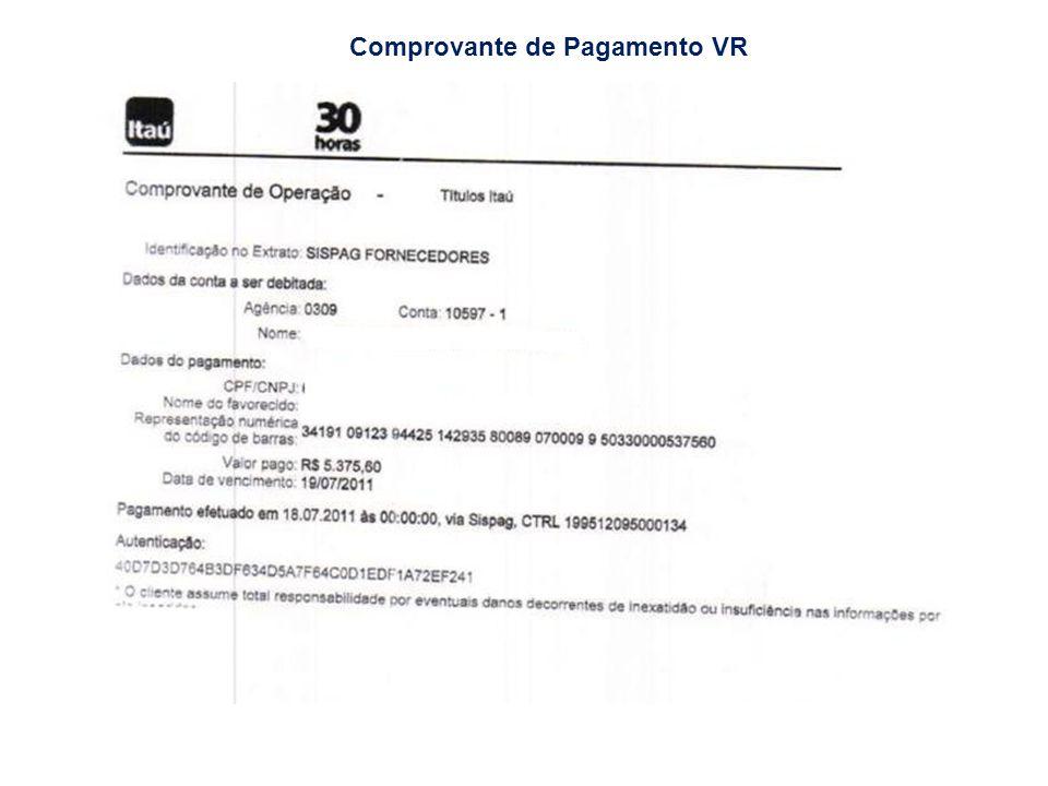 Comprovante de Pagamento VR